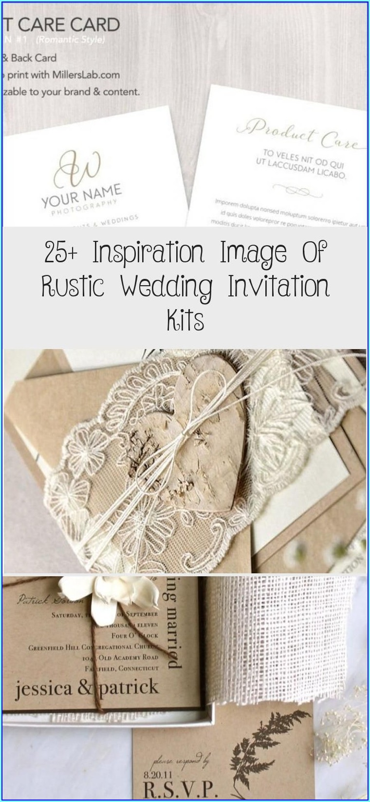 Blank Rustic Wedding Invitation Kits