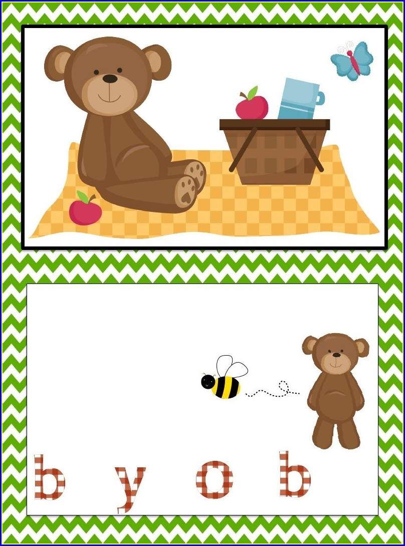 Blank Teddy Bear Picnic Invitation Template Free