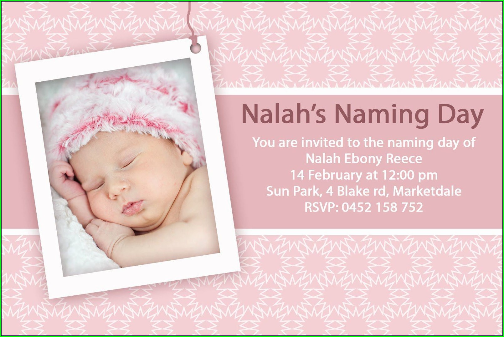 Blank Template For Christening Invitation Card
