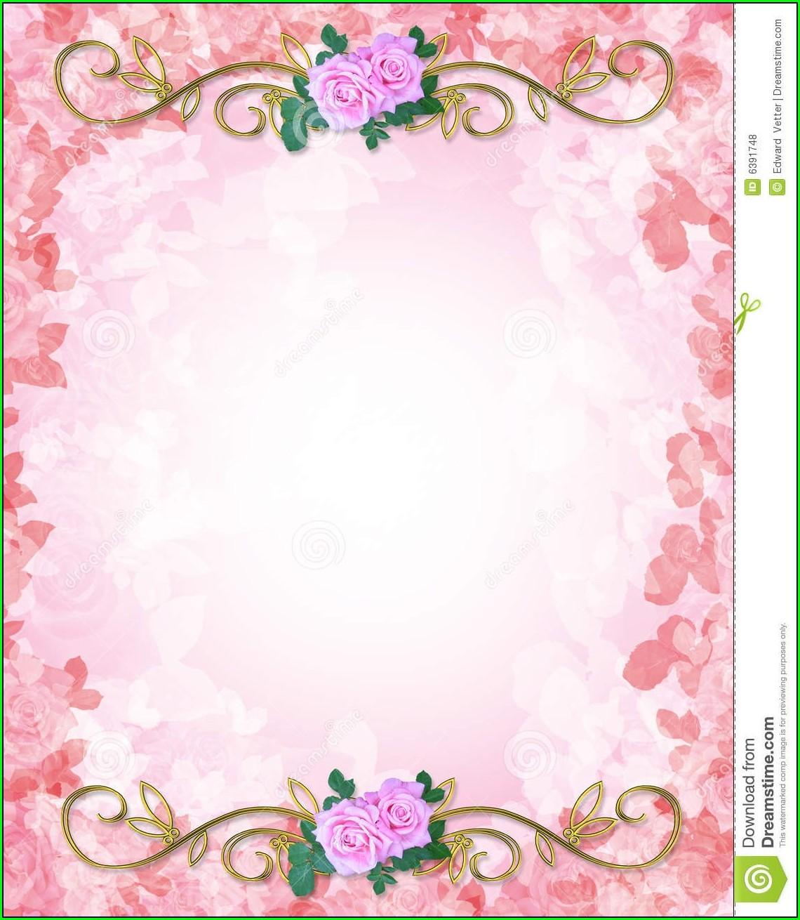 Blank Wedding Invitation Background Hd