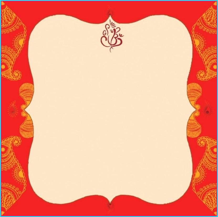 Blank Wedding Invitation Templates Indian