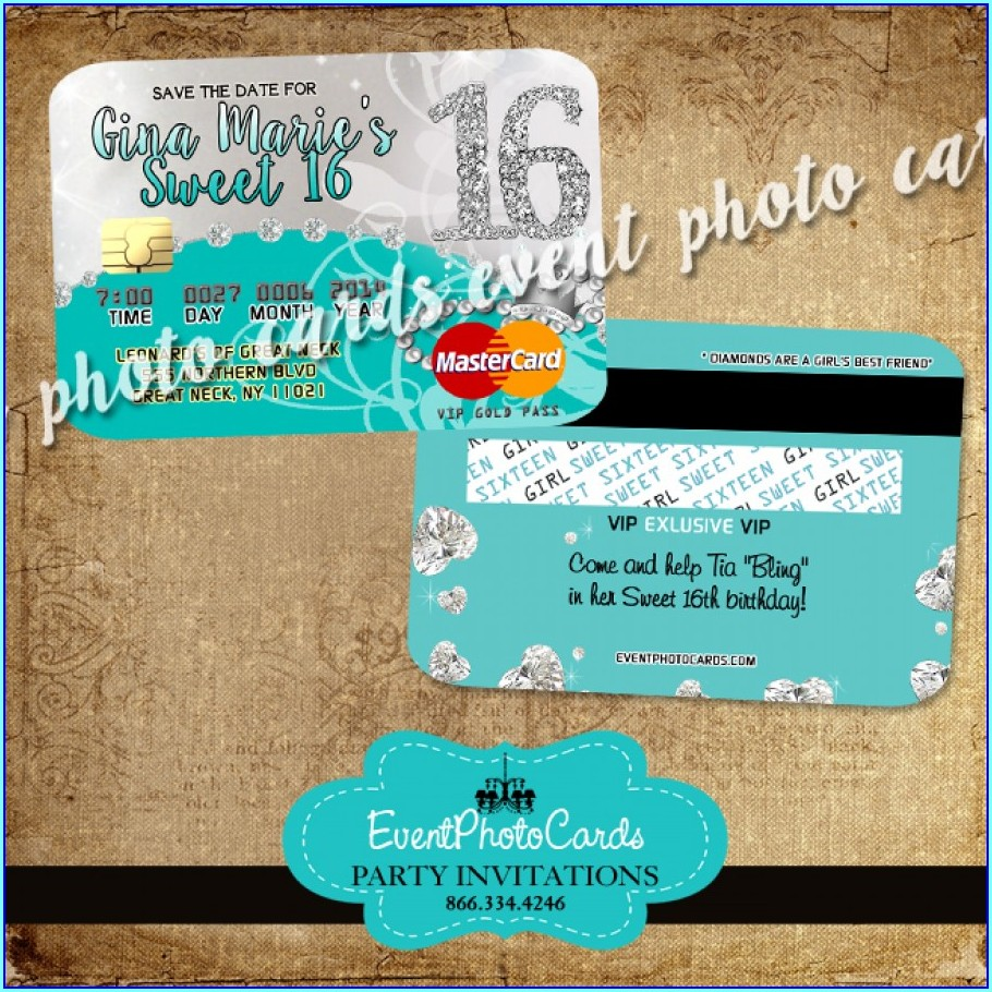 Bling Sweet 16 Invitations
