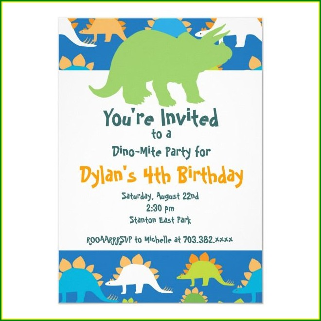 Blue And Green Birthday Invitations