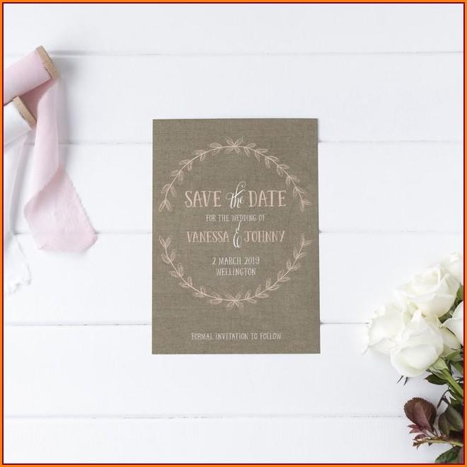 Blush Pink And White Wedding Invitations
