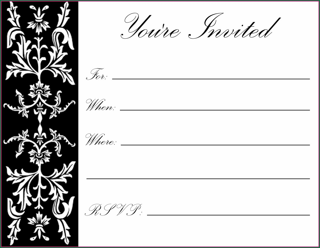 Boy Black And White Printable Birthday Invitations