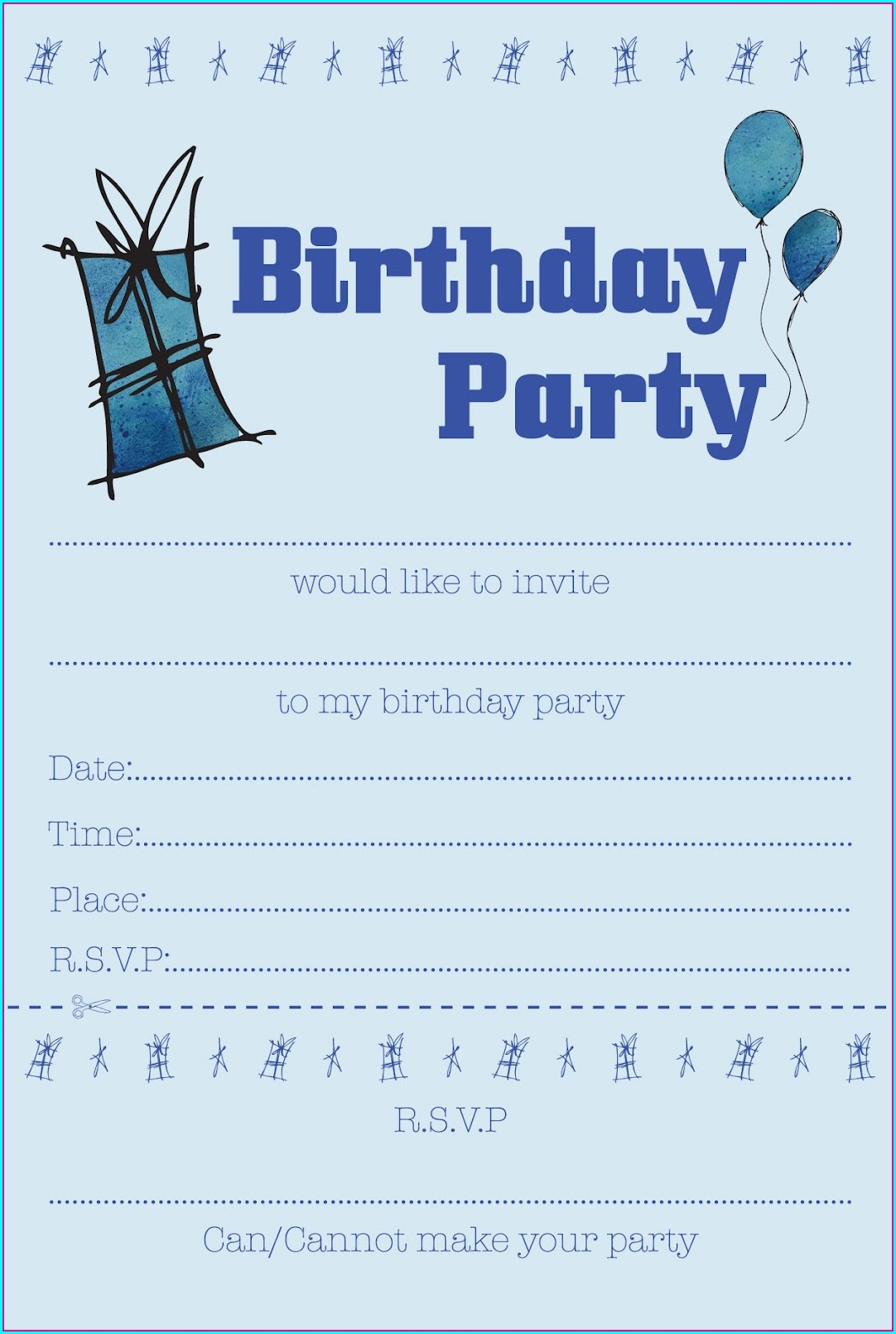 Boy Free Birthday Invitation Templates