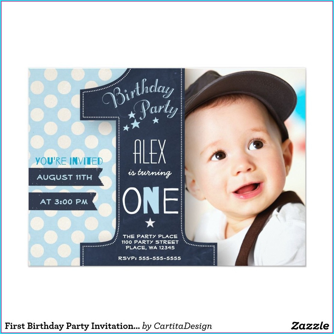 Boys 1st Birthday Invitations
