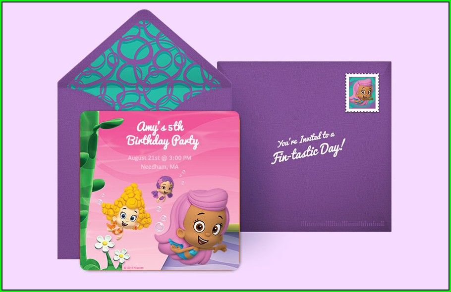 Bubble Guppies Invitations Online