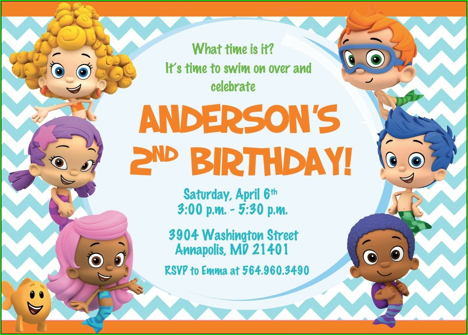 Bubble Guppies Online Invitation