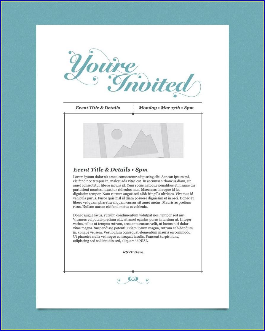 Business Invitation Template Free