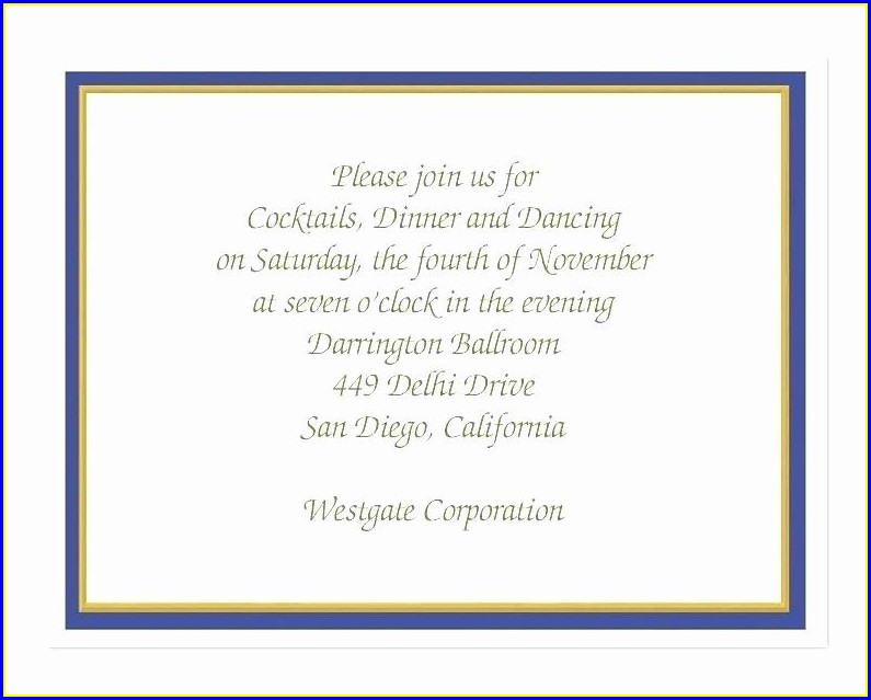 Business Lunch Invitation Wording