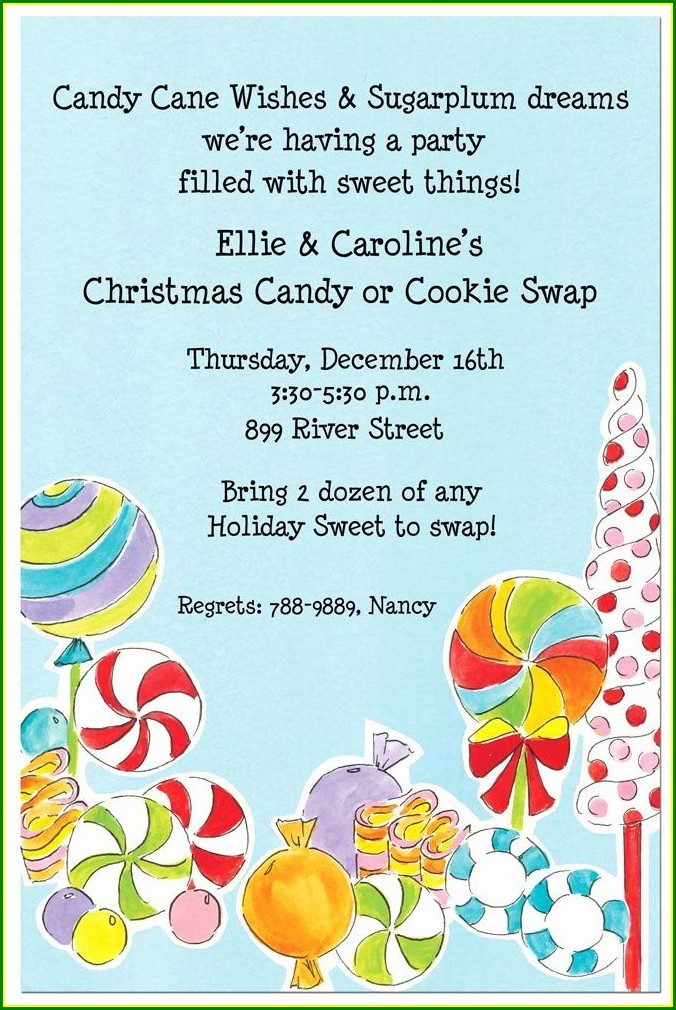 Candyland Invitation Template Free