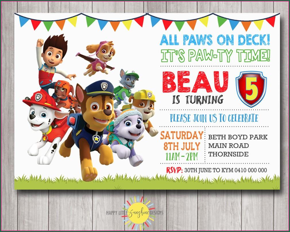 Cartoon Character Birthday Invitation Background For Boys