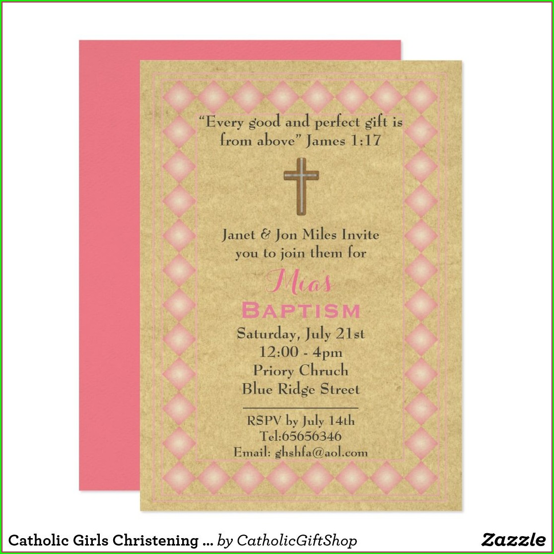 Catholic Baptism Baptism Invitation Wording Bible Verses