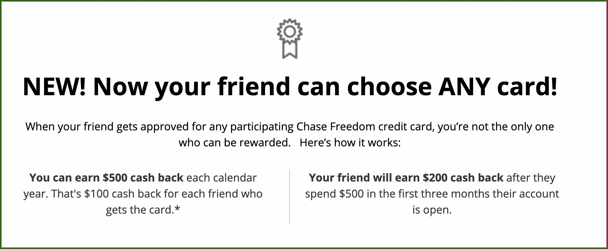 Chase Freedom Unlimited Invite Friends
