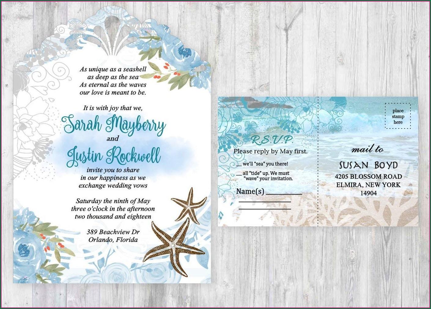 Cheap Beach Wedding Invitations