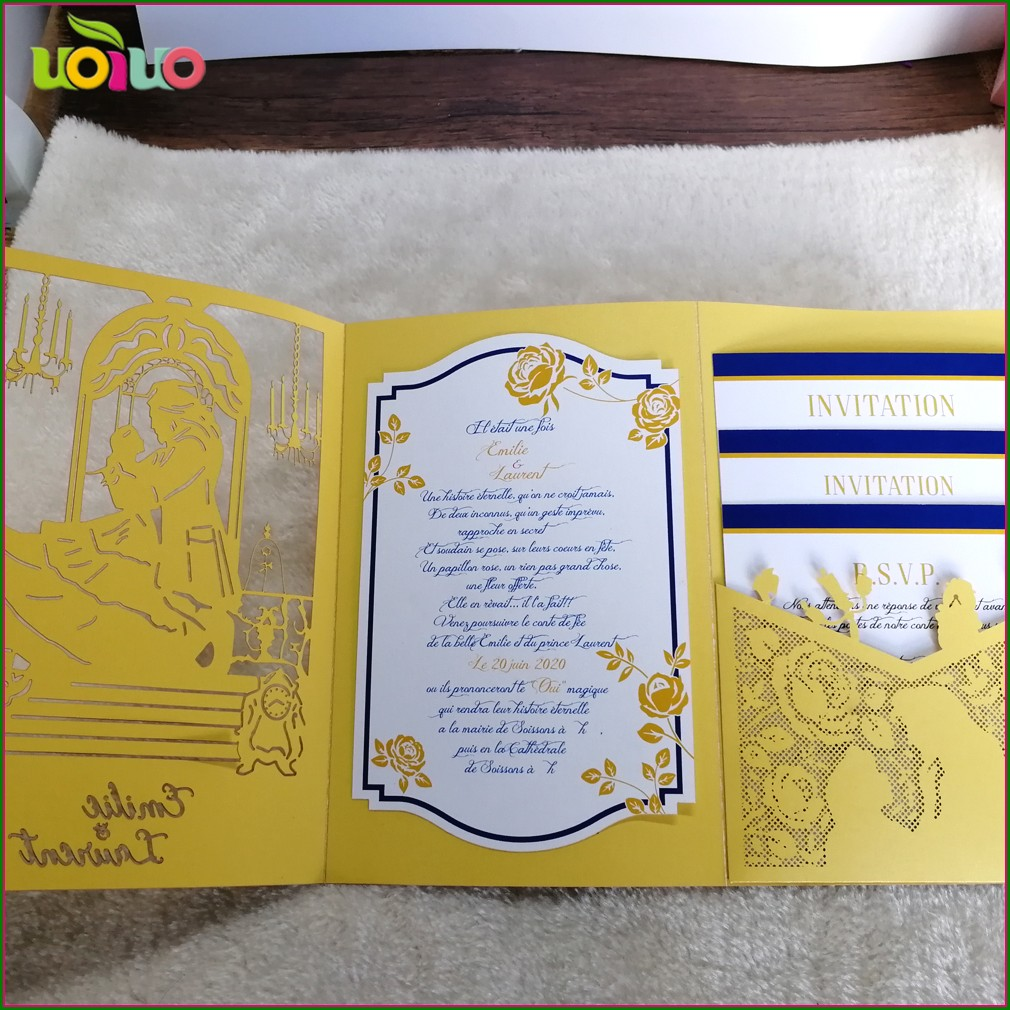 Cheap Beauty And The Beast Wedding Invitations