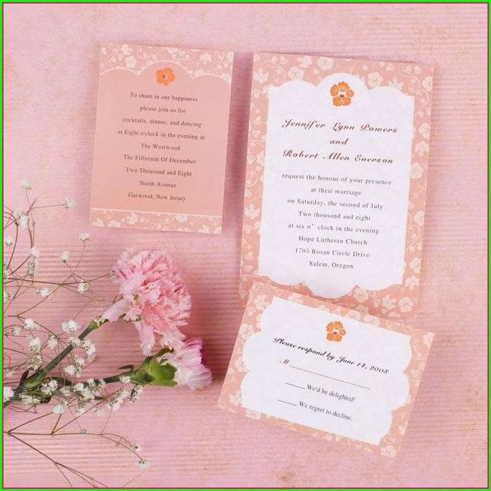 Cheap Coral Wedding Invitations