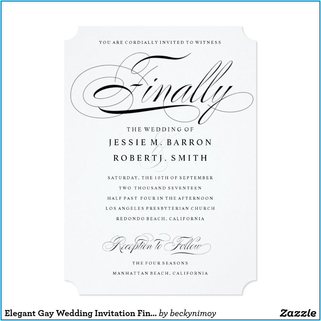Cheap Gay Wedding Invitations