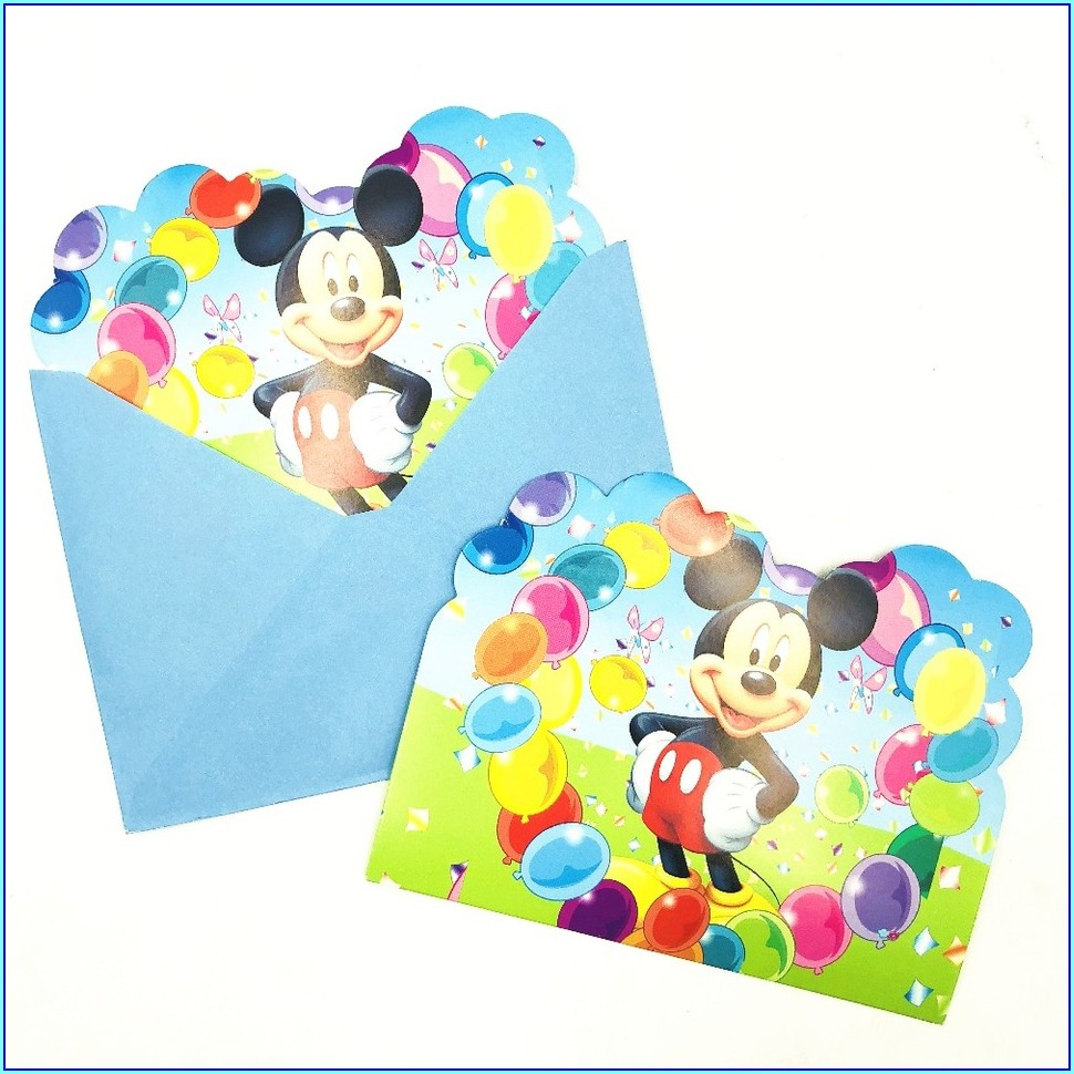Cheap Mickey Mouse Invitations