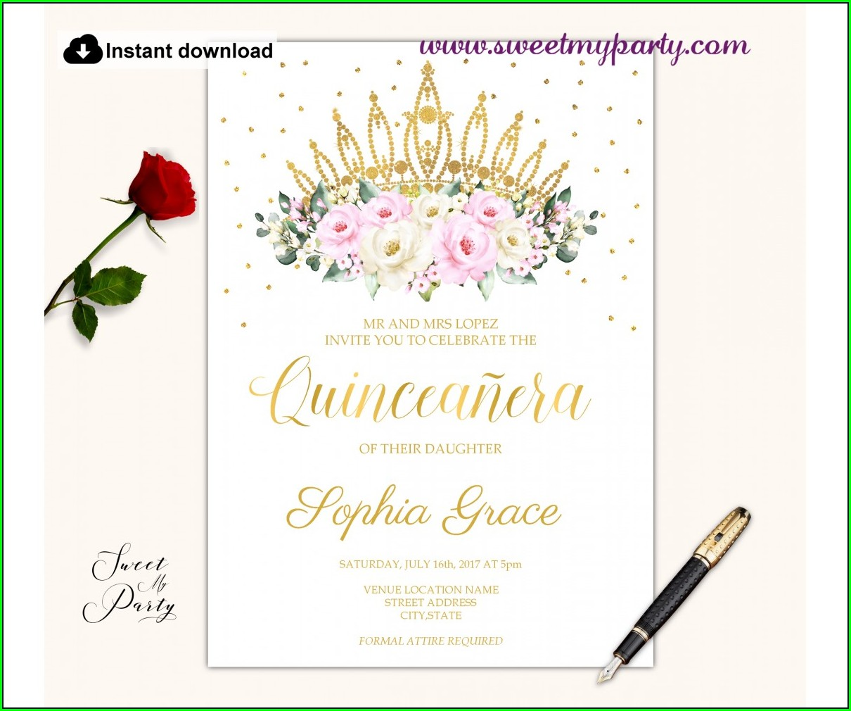 Cheap Quinceanera Invitations Online