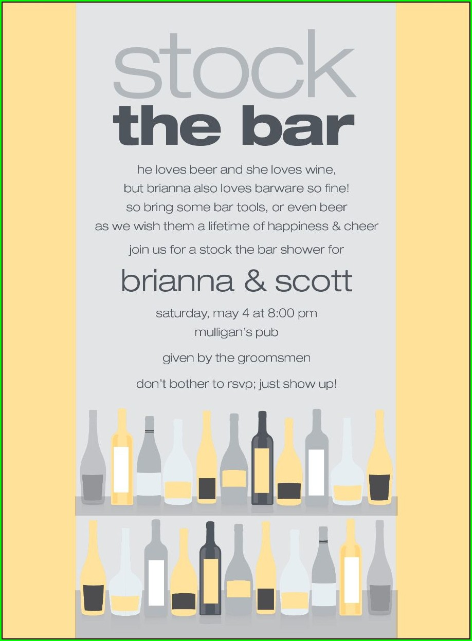 Cheap Stock The Bar Invitations