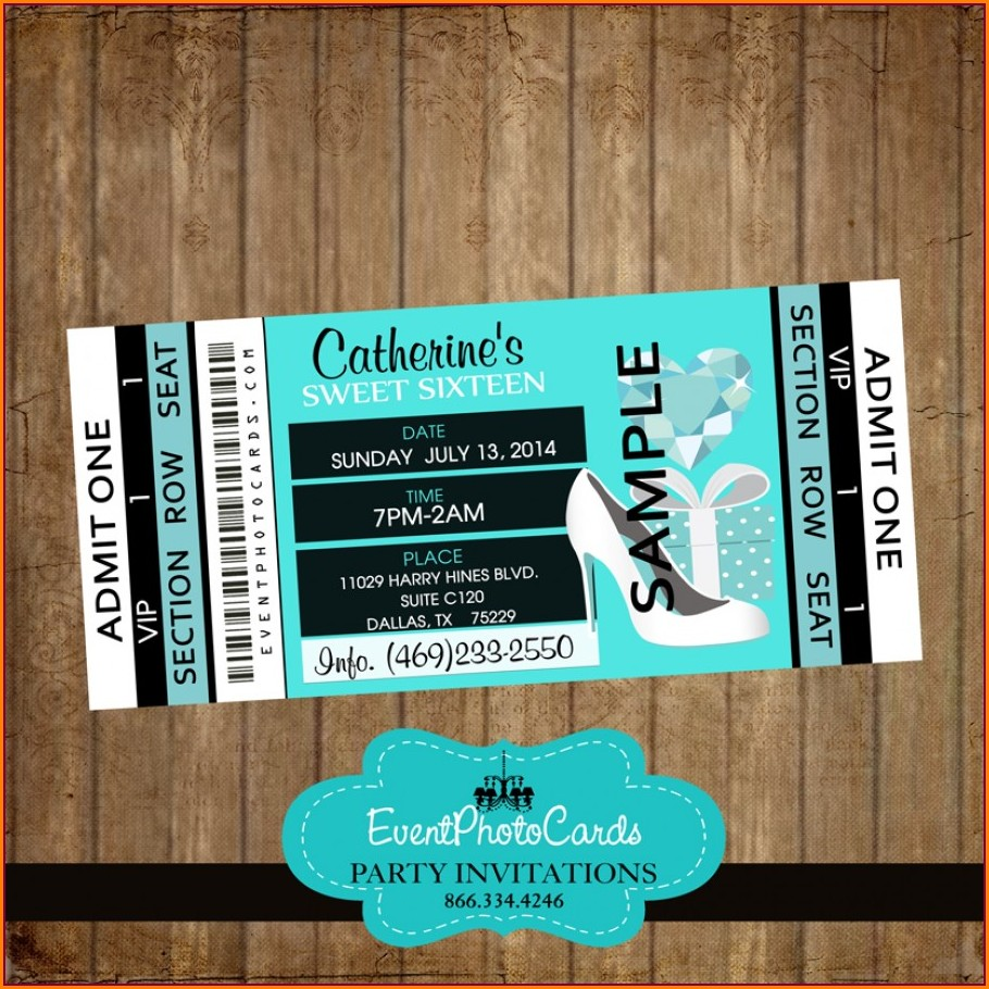 Cheap Sweet 16 Invitations Under $1
