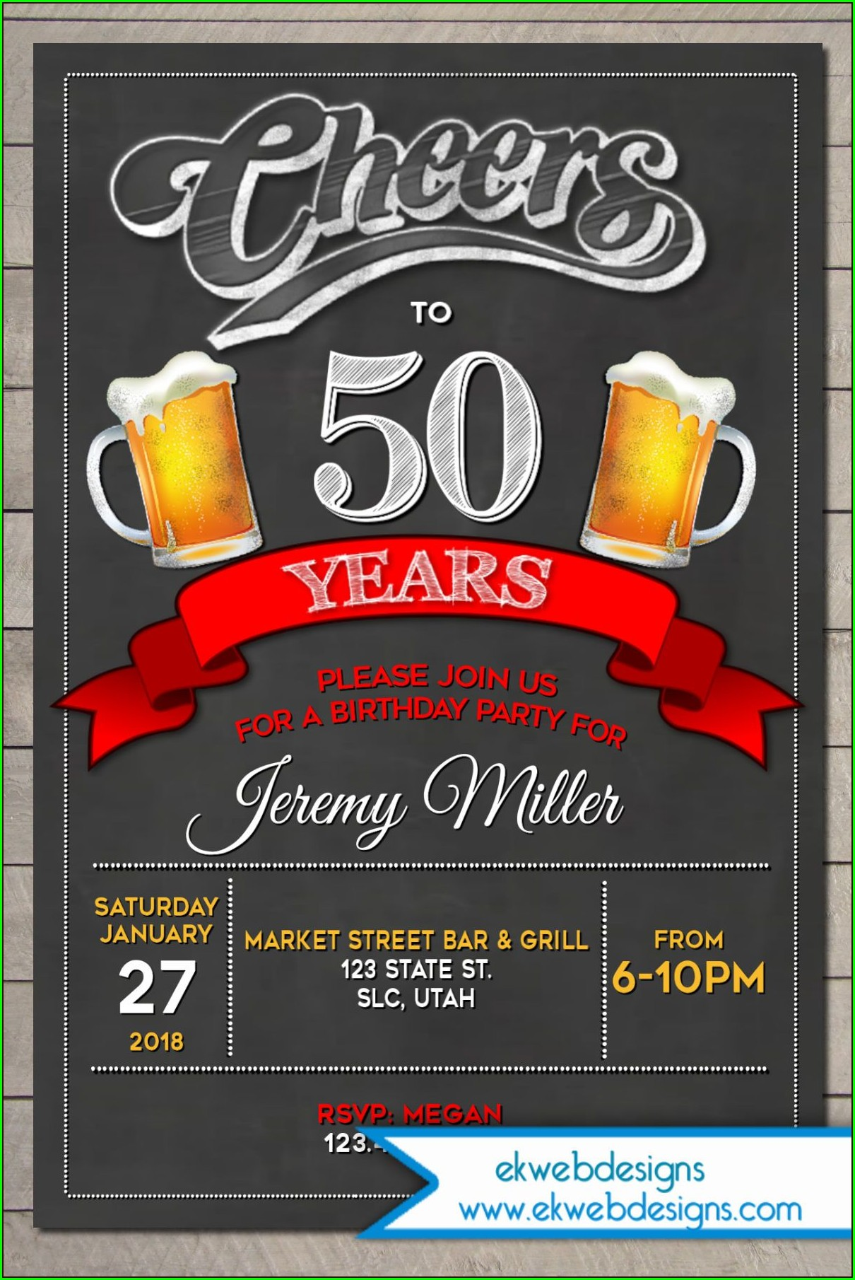 Cheers And Beers Invitation