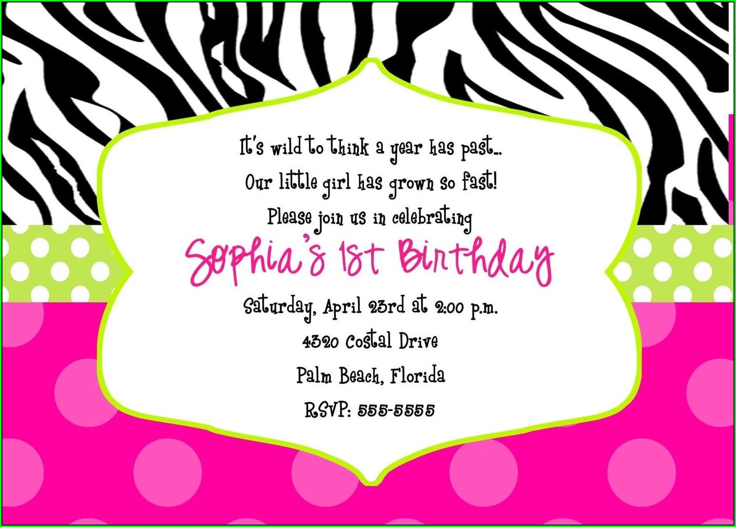 Cheetah Print Birthday Invitations