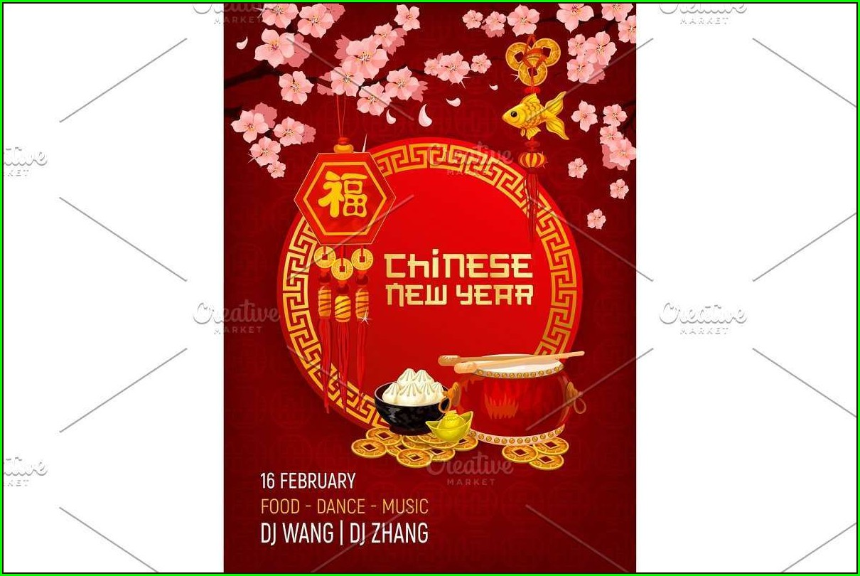 Chinese New Year Invitation Template Free
