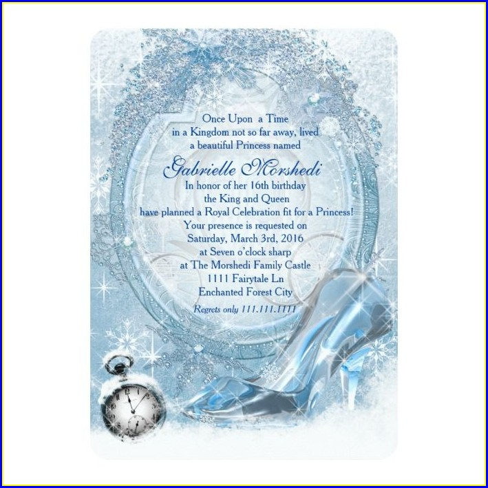 Cinderella Sweet 16 Invitations