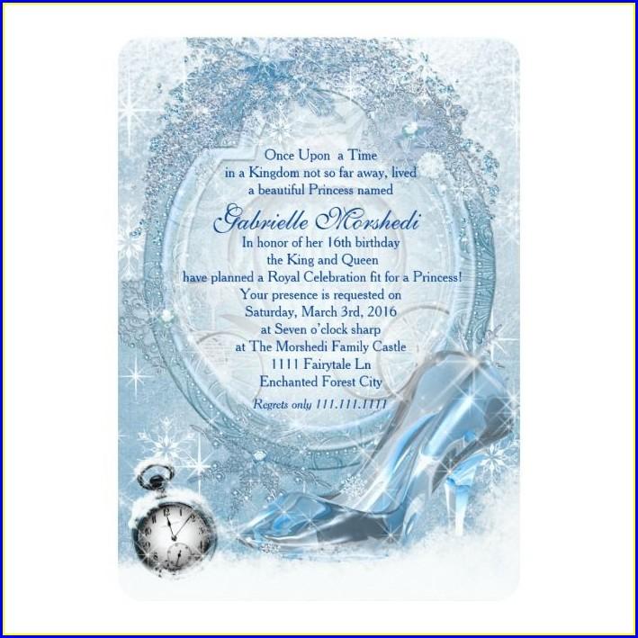 Cinderella Sweet 16 Invitations