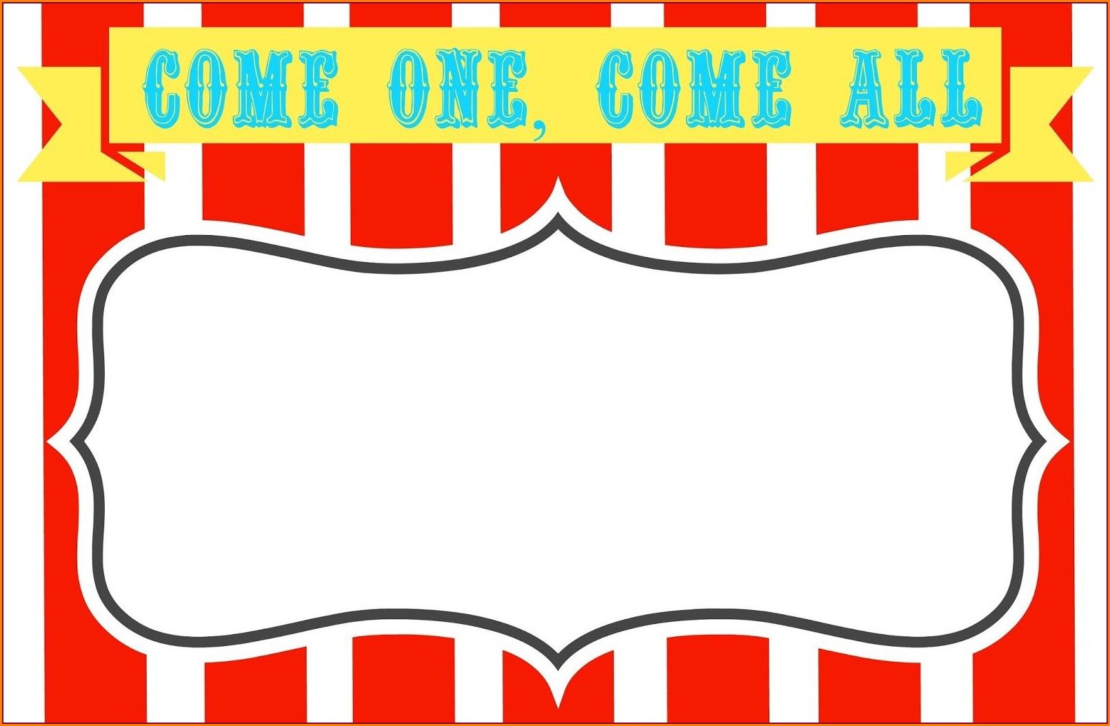 Circus Birthday Invitations Free