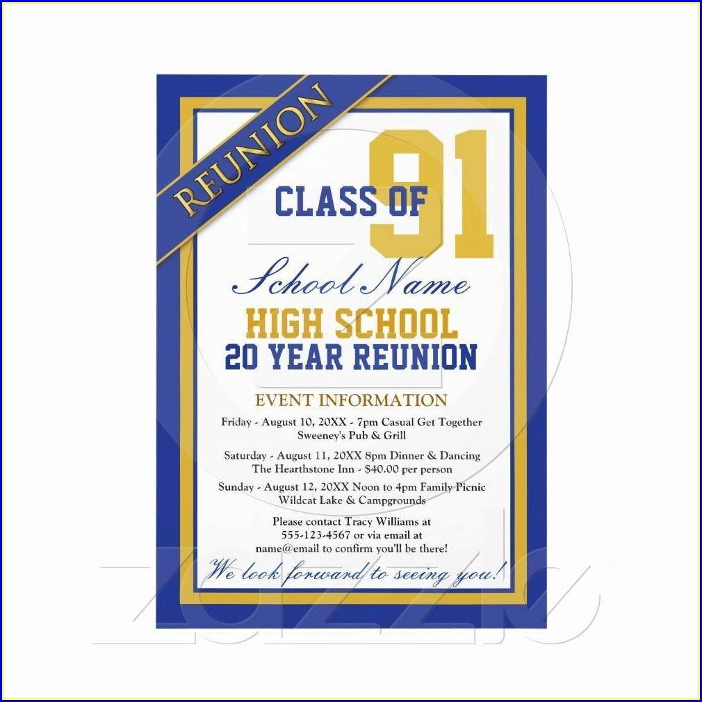 Class Reunion School Reunion Invitation Templates Free