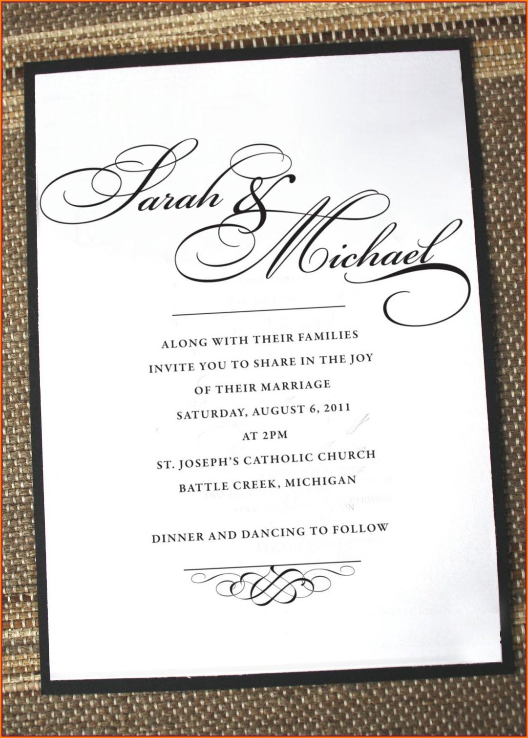 Classy Formal Birthday Invitation Wording