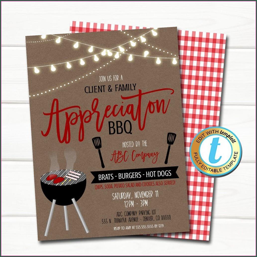 Company Bbq Invitation Template