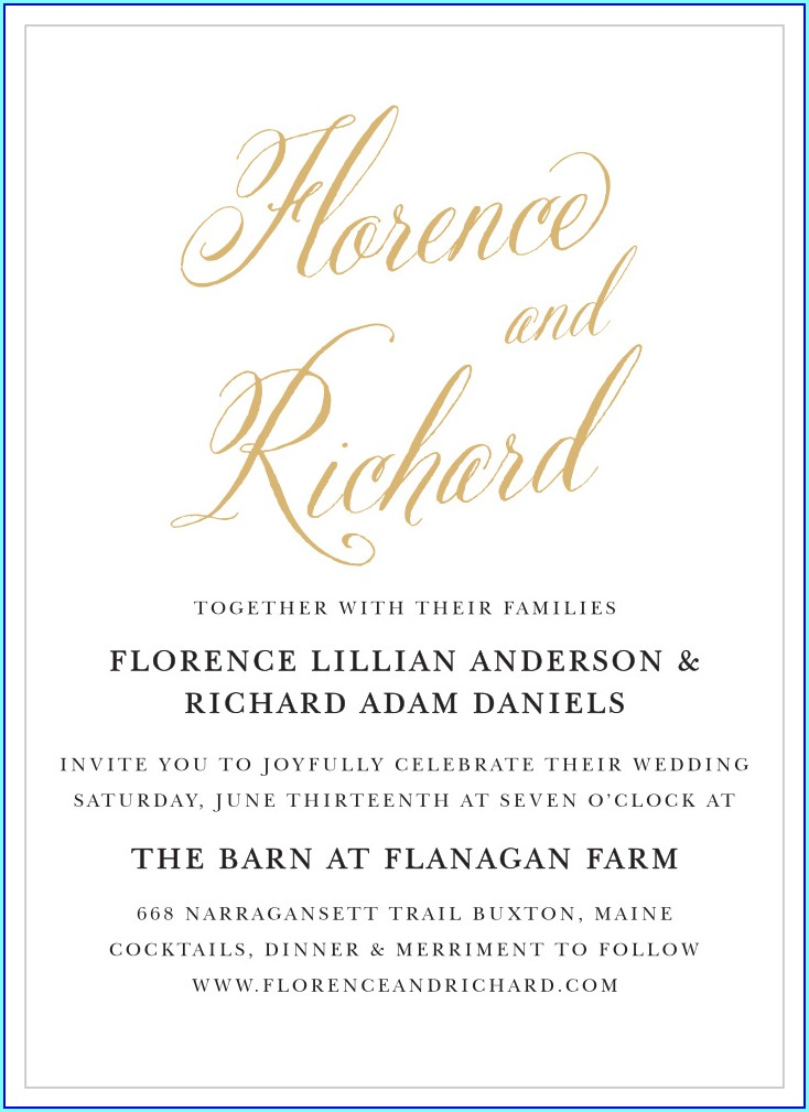 Convalidation Wedding Invitation Wording