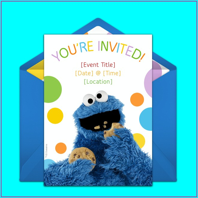 Cookie Monster Birthday Invitations Free