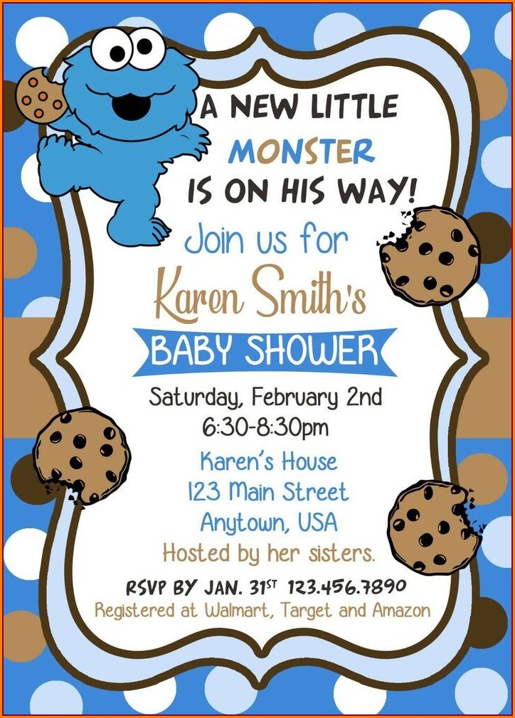 Cookie Monster Birthday Invitations Walmart