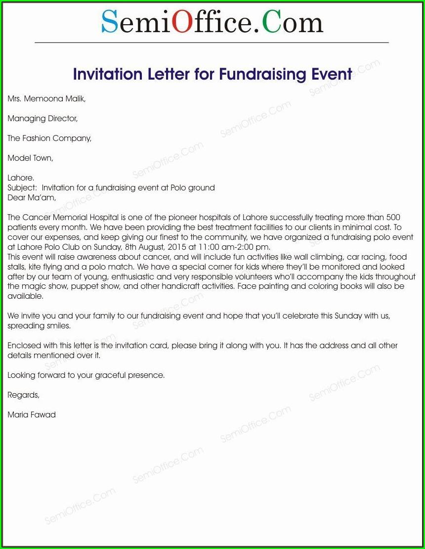 Corporate Event Invitation Letter Sample