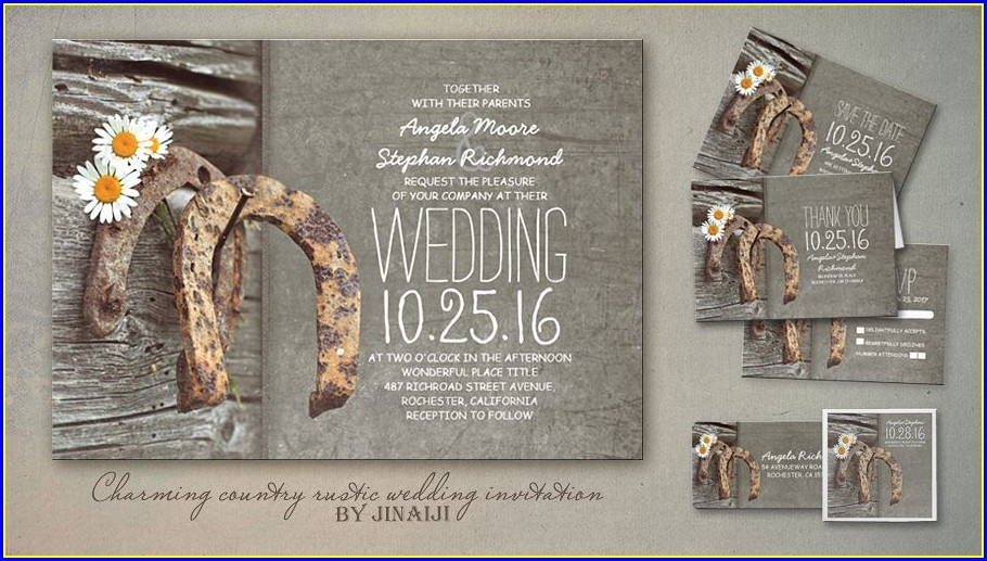 Country Style Wedding Invitations