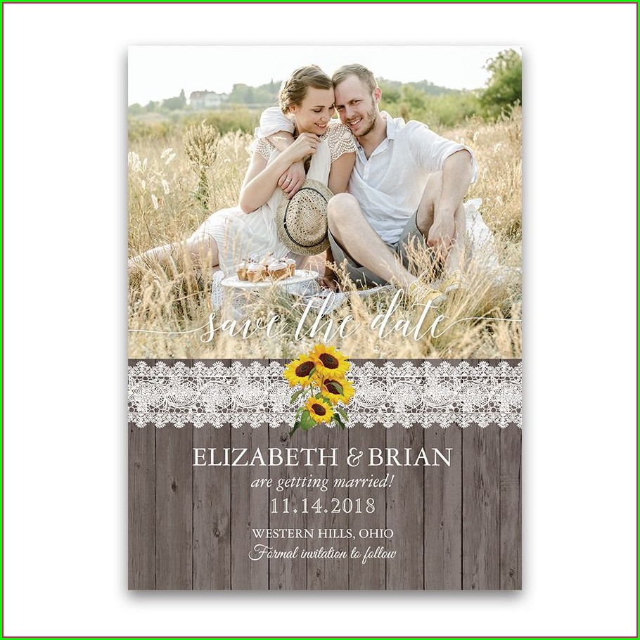 Country Wedding Invitations With Photo