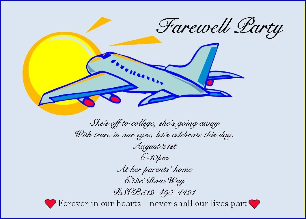 Coworker Farewell Invitation Template