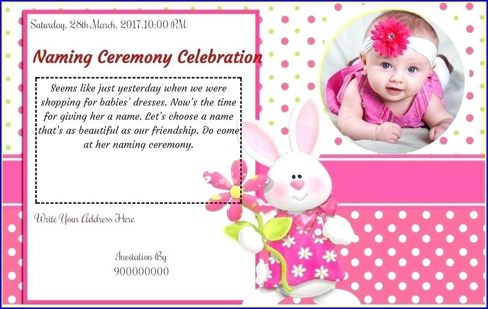 Cradle Ceremony Invitation Templates Free