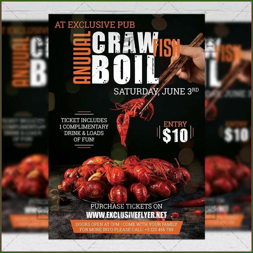 Crawfish Boil Invitation Templates Free