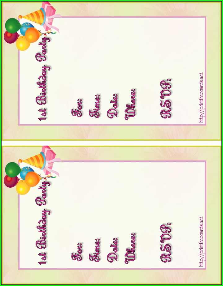 Create Birthday Invitation Card Online Free Uk
