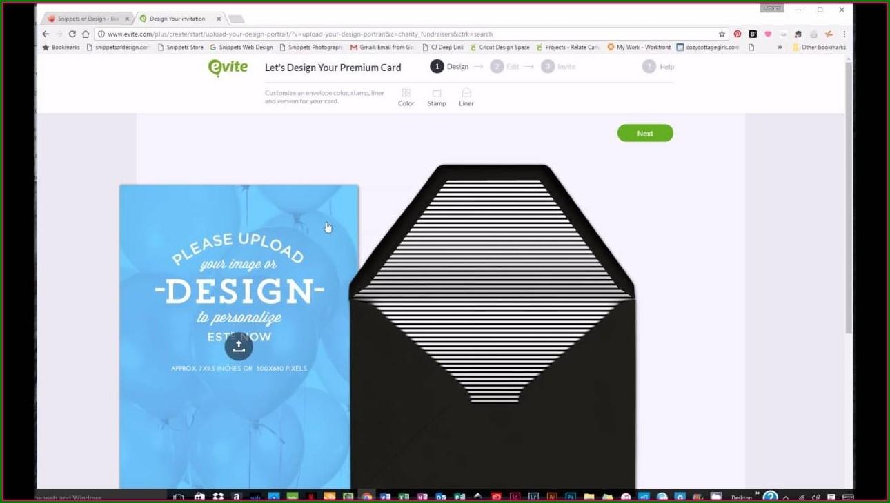 Create Evite Invitation Custom