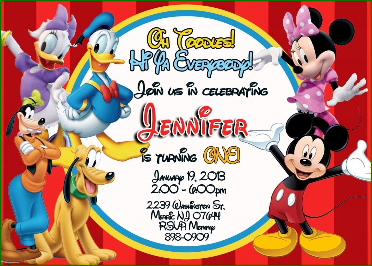 Create Your Own Mickey Mouse Invitations Free