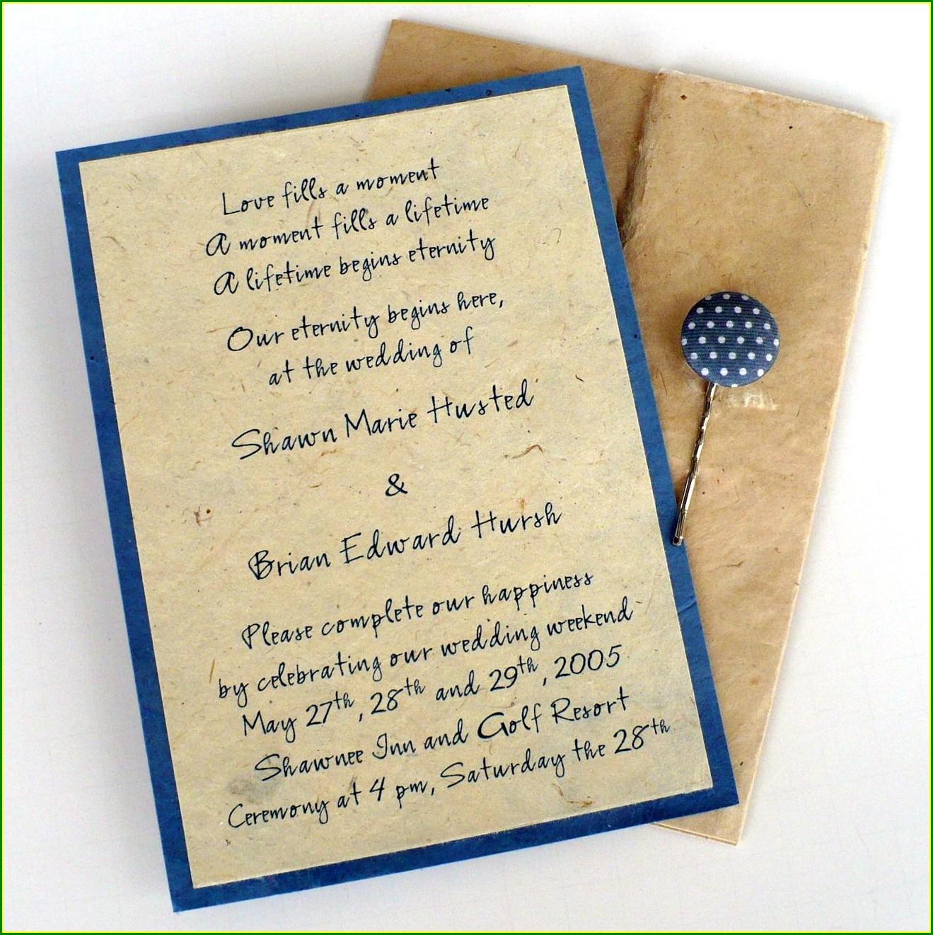 Creative Hindu Indian Wedding Invitation Wording