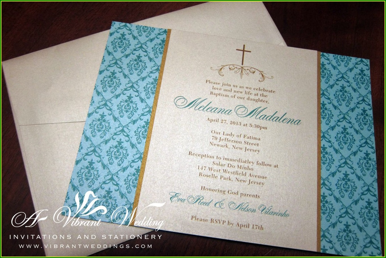 Custom Baptism Invitations In Spanish